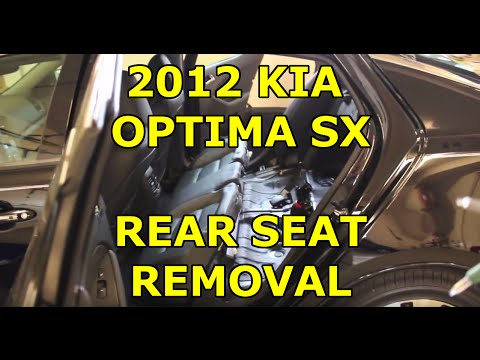 2011-2013 Kia Optima / Hyundai Sonata Rear Seat Removal