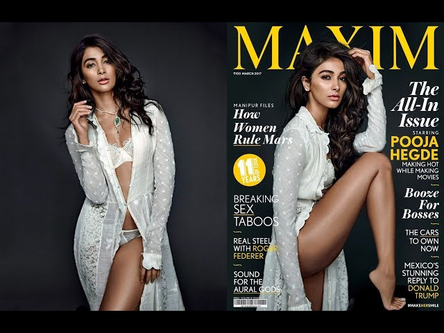 Pooja Hegde in a very Hot Lingerie Photoshoot for Maxim India