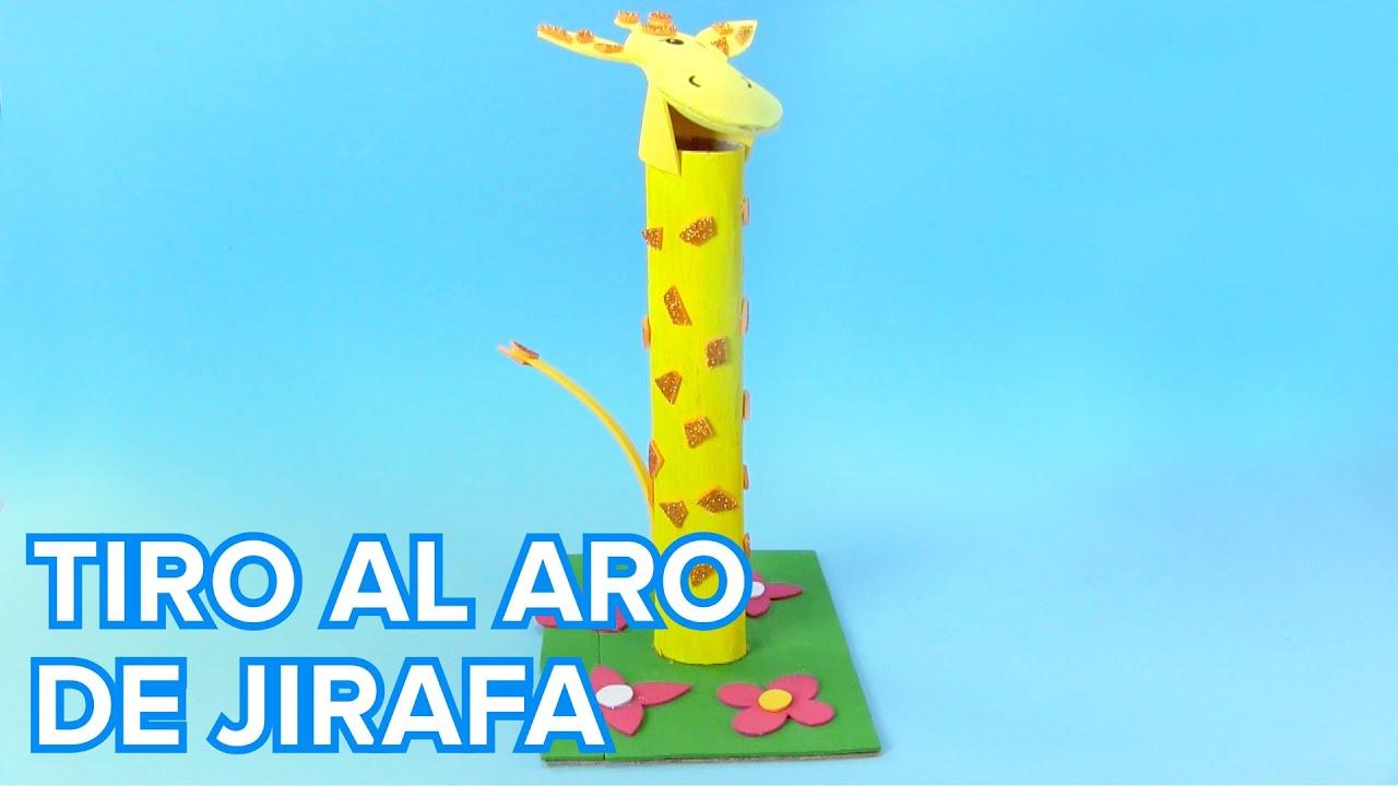 Cómo hacer una jirafa para jugar al tiro al aro | Juguetes caseros