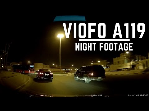 Viofo A119 Dashcam - Night Time Footage 1440p