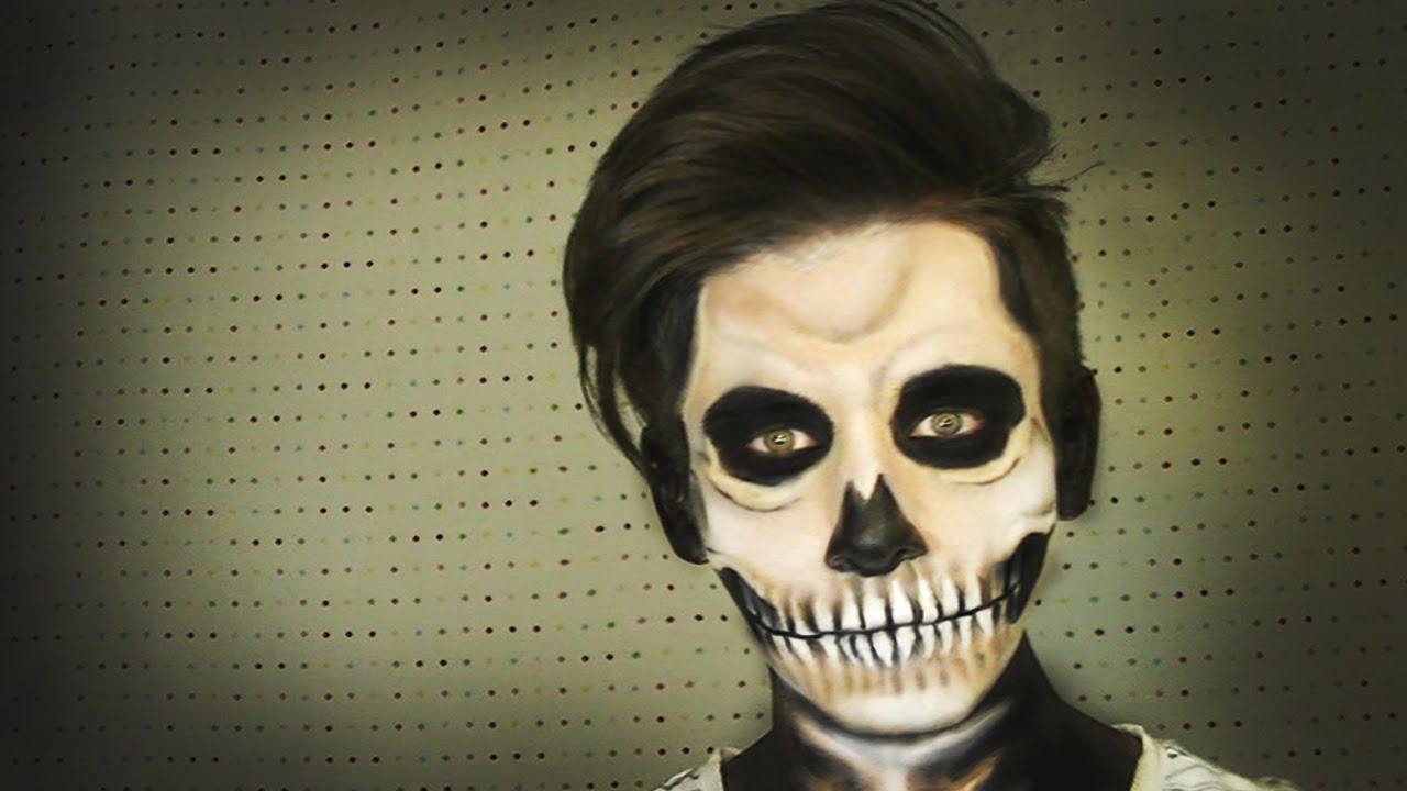 Maquillaje de calavera skull make up halloween soy for Pinturas de cara para halloween