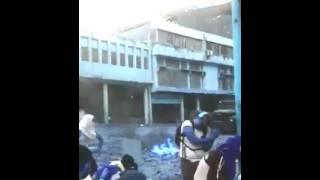 LLuvia de piedras contra la guardia nacional 2017