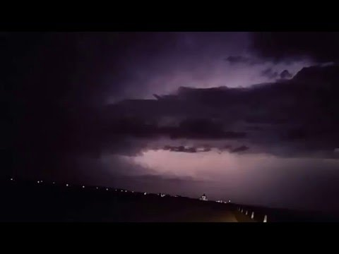 Thunderstorms & Lightning Texas City Dike 01/08/2016