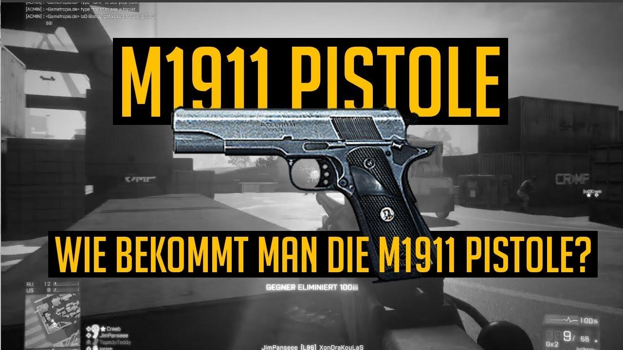 BF3 Tutorial: Wie Bekommt Man Die M1911 Pistole