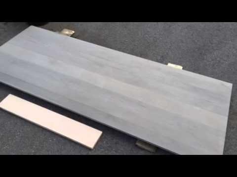 Create Restoration Hardware Gray Headboard With Maple