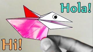 Pájaro de papel que HABLA!  - Origami