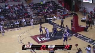 Highlights of Eastern Men's Basketball against Weber State (Feb. 23).