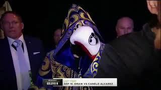 Выход на ринг Геннадия Головкина в бою против Ванеса Мартиросяна