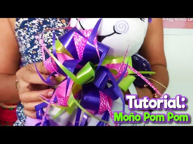 Tutorial: Moño de Cinta Papel para regalo (Pom Pom)