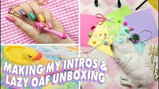 ♡ HOW I MAKE MY YOUTUBE INTROS & BUNNYREES UNBOXING! ♡