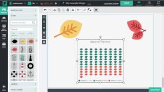 البصرية الرقمية عرض تقديمي - أمثلة على الرسوم البيانية التي تم إنشاؤها مع Piktochart