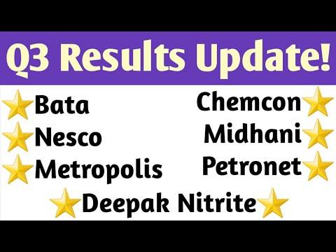 Q3 Results Analysis!🔥Bata, Metropolis, Midhani, Nesco, Chemcon, Deepak Nitrite, Petronet LNG!