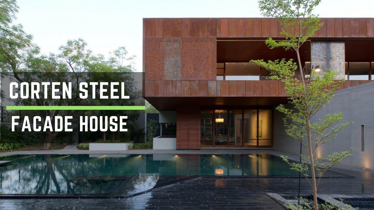 Corten Steel Facade Creates Adorable Residence Youtube