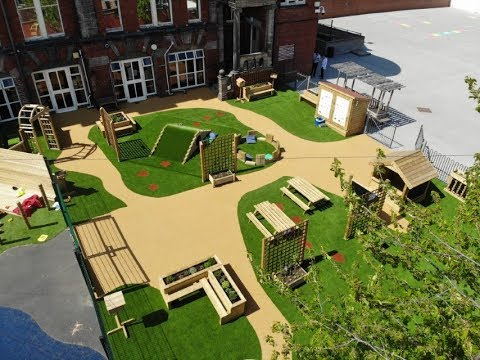Natural Play Equipment At Hillcrest Academy