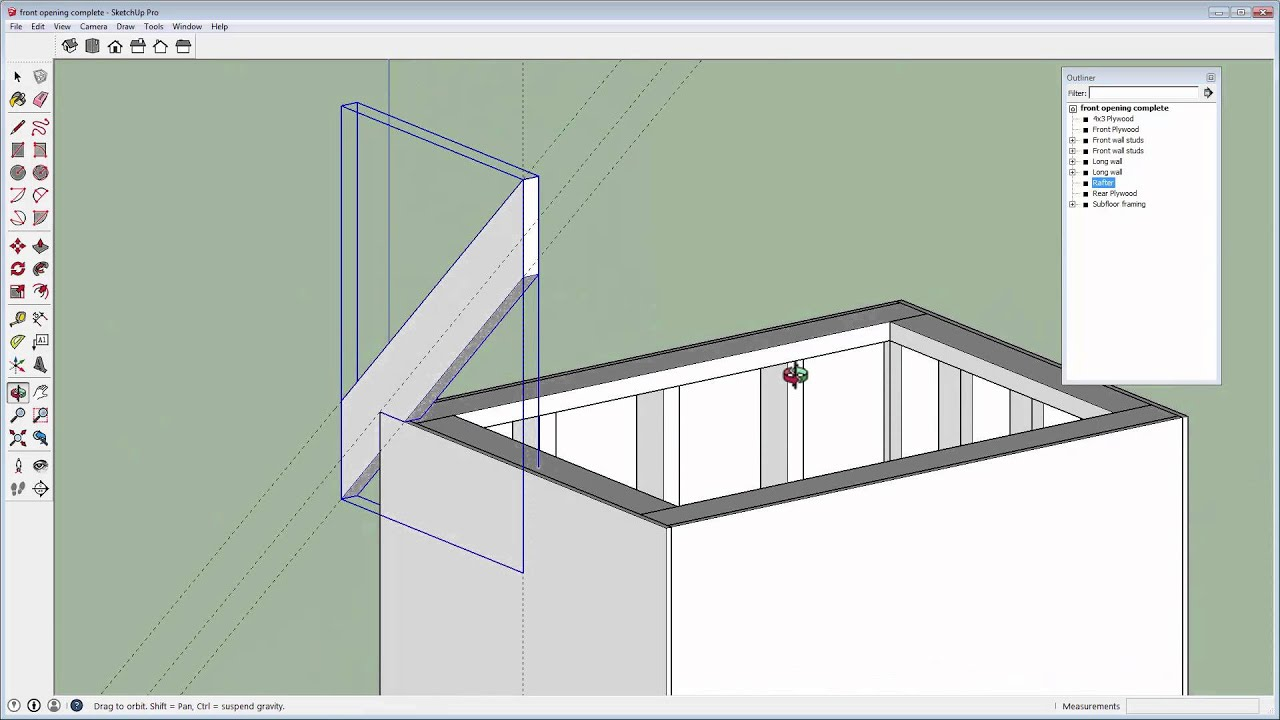 How to draw a gambrel roof in sketchup - 5 Dog House Creating The Roof With Sketchup