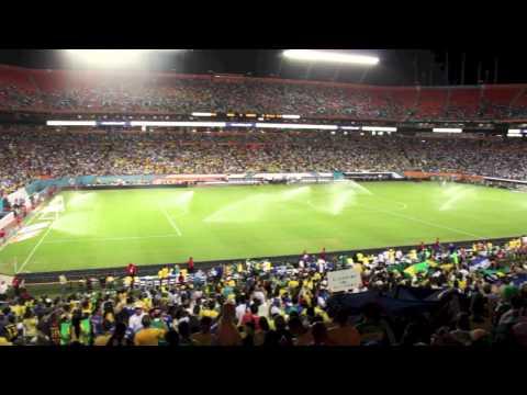 ¡Apoyando la H! Honduras vs Brasil en el Sun Life Stadium 11/16/13