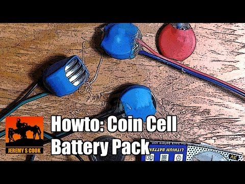 Coin Cell Battery Pack Howto