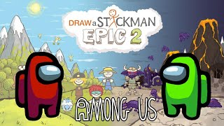 AMONG US Draw a Stickman: Epic 2 Gameplay - Red And Green Another Story screenshot 1