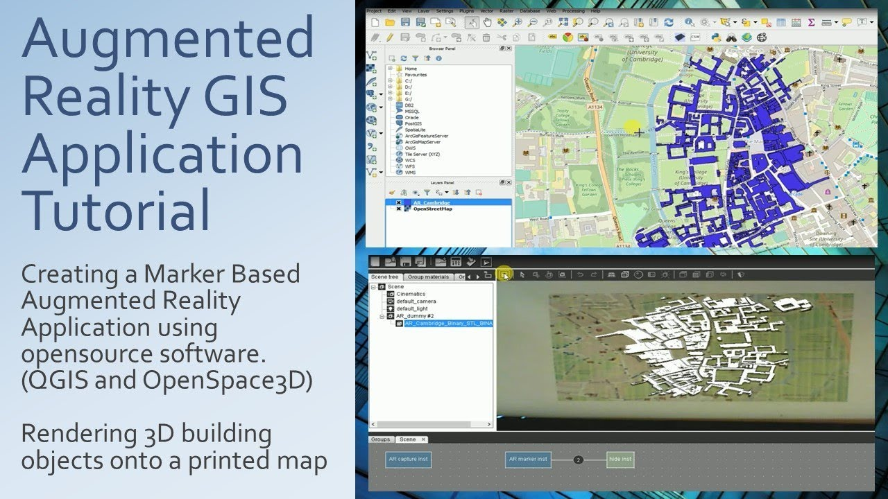 Tutorial - Creating an Augmented Reality GIS Map Application using  Opensource software