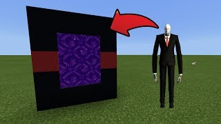 How To Make a Portal to the Slenderman Dimension in MCPE (Minecraft PE)