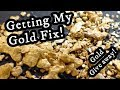 Highbanking at the claim   Getting my GOLD FIX   Gold Giveaway