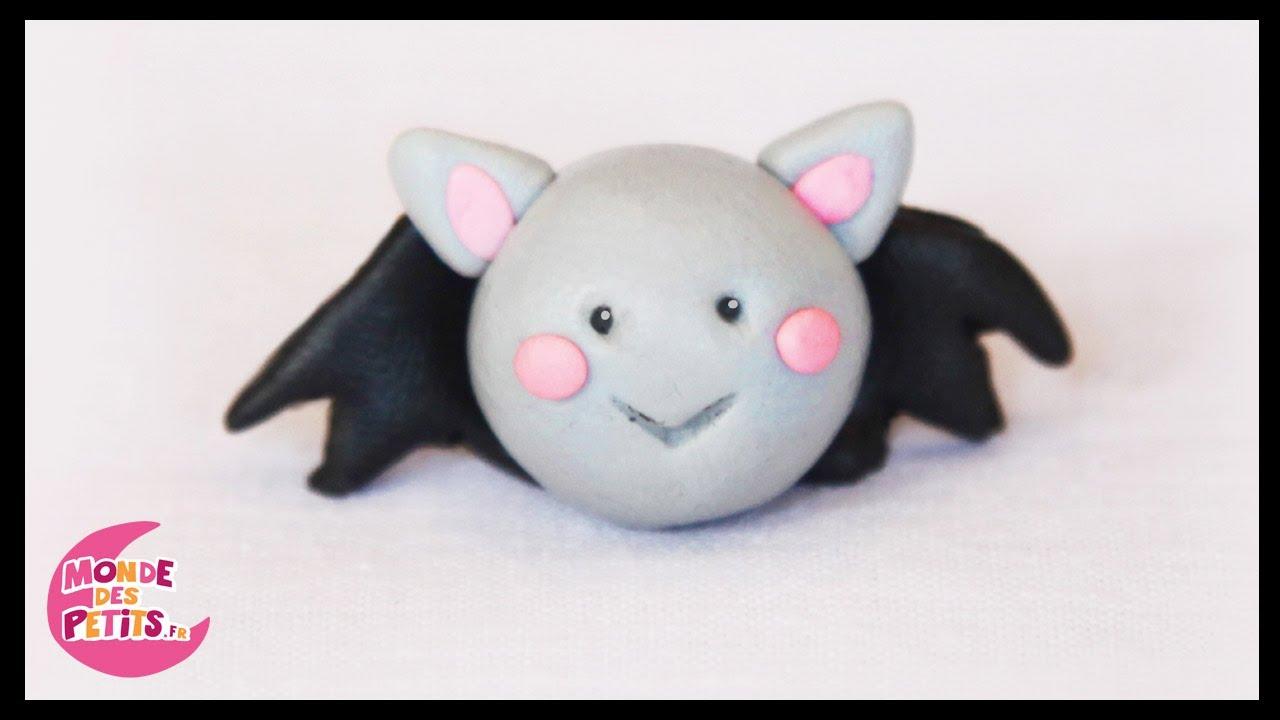 P te modeler la chauve souris d 39 halloween youtube - Deco halloween chauve souris ...