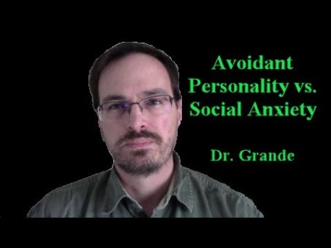 What is the diifference between Avoidant Personality Disorder and Social Anxiety Disorder?