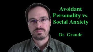 What is the difference between Avoidant Personality Disorder and Social Anxiety Disorder?