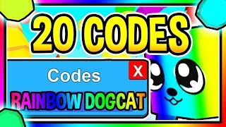 ALL 20 NEW BUBBLE GUM SIMULATOR CODES - New Rainbow DogCat Update 28/ Roblox