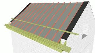 Мансардная крыша с мягкой кровлей для 1,5 этажного дома Ч.3. // attic with soft roof (subs)