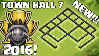 EPIC MASTER LEAGUE TH7 TROPHY PUSHING BASE - TOWN HALL 7 DEFENSE BASE 2016! - CLASH OF CLANS