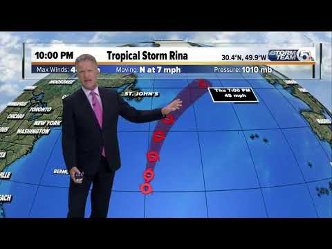 TS Rina forms in the Atlantic; no threat to land