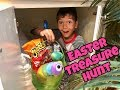 HUGE EASTER EGG TREASURE HUNT | Hundreds of EGGS & Hidden Baskets