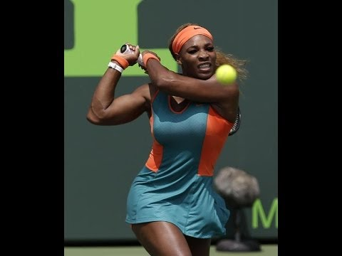 SERENA WILLIAMS DEF CAROLINE GARCIA SONY OPEN 3RD ROUND 2014