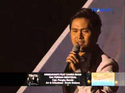 KRISDAYANTI feat CAKRA KHAN - TAK PERNAH MENYESAL // KONSER TRAYA KRISDAYANTI 22 MEI 2015
