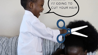 Mean Doctor Cuts Mommy's Hair