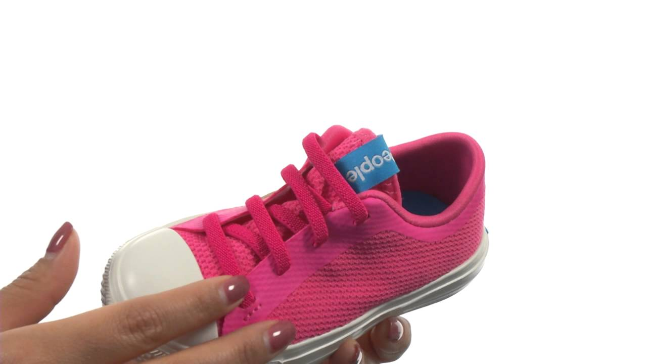 People Footwear Toddler Girls Phillips Knit Sneakers Playground Pink White 9 New