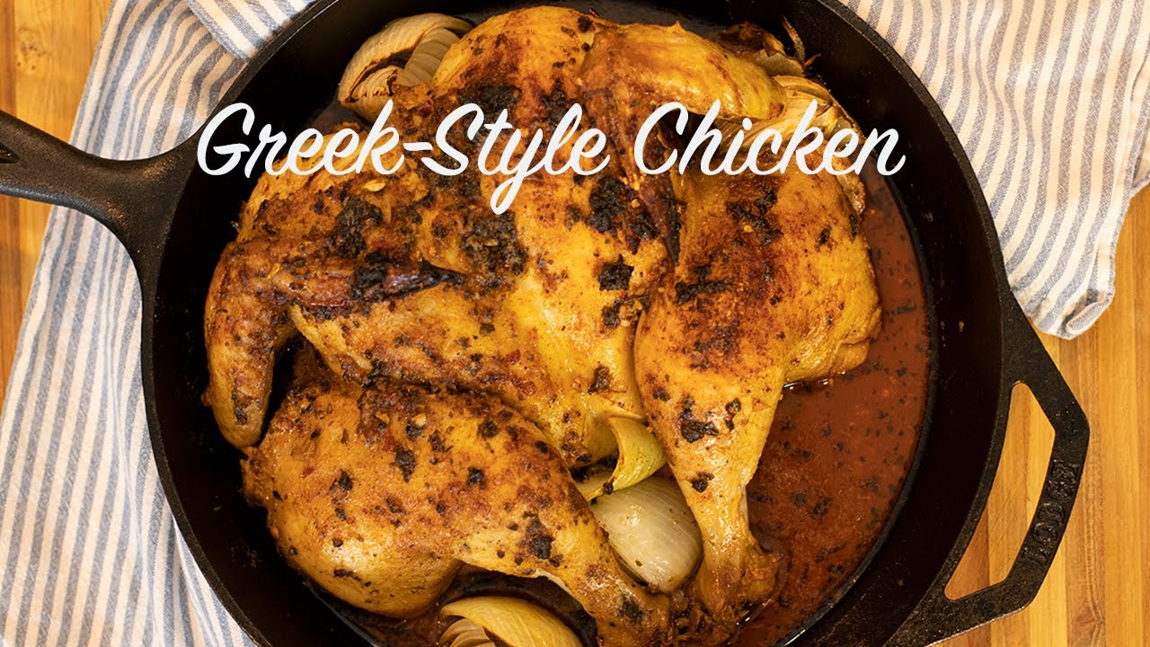Quick & Easy Greek Style Spatchcocked Chicken: Ready in under an Hour!