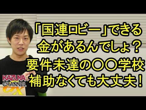 国連ロビーしに行くお金があるんだから、〇〇学校は日本政府に助成金ねだらなくても大丈夫でしょ!