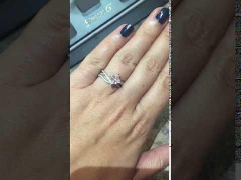 Princess Cut Twist Diamond Engagement Ring