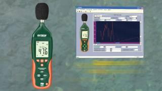 extech hd600 data logging sound level meter demo