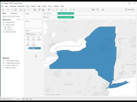 How To Plot U.S. 5-digit FIPS County Code In Tableau