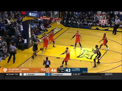 Oklahoma State vs West Virginia Men's Basketball Highlights