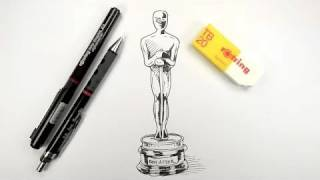 How to draw an Oscar Statue