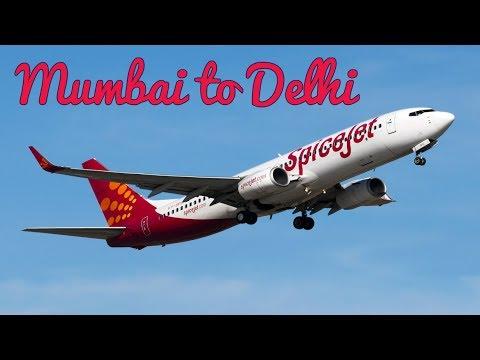 Spicejet Flight from Mumbai to Delhi