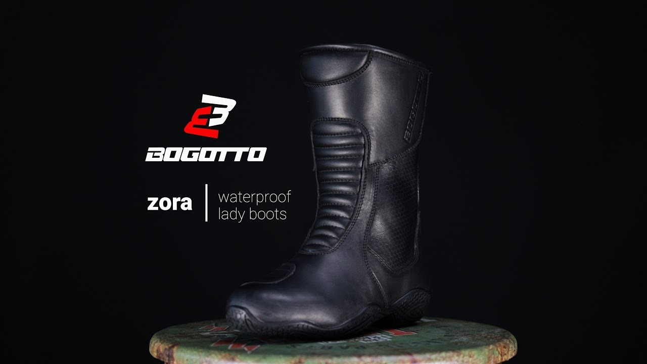 Bogotto Zora bottes de moto imperméables pour dames