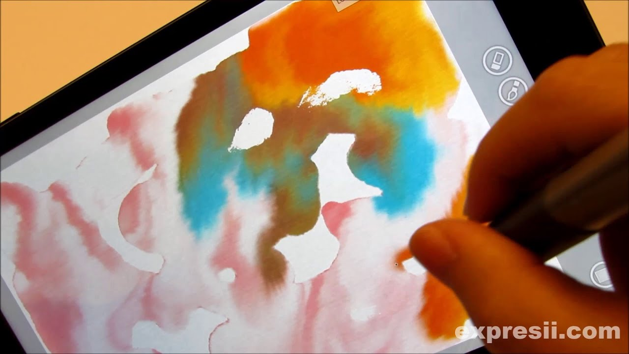 Expresii state of the art watercolor painting app on a us for App to paint on pictures