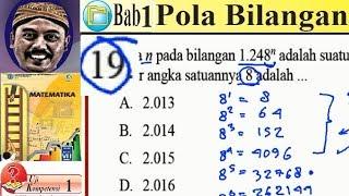 pola bilangan, matematika kelas 8 BSE  kurikulum 2013 revisi 2017 UK 5,1 no 19, angka satuan 124