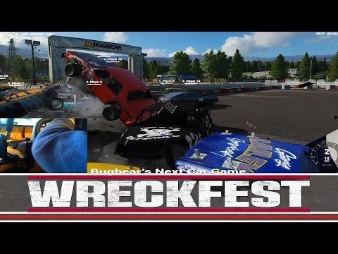 Wreckfest Big Jack Ups! Jag&Yank at Small Banger Stadium With Wheel!