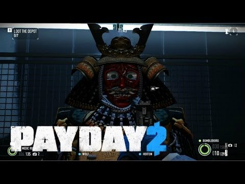 Payday 2 Co-op: Shadow Raid & the Somen Mempo Mask